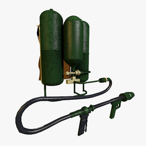 flamethrower flame thrower 3d model
