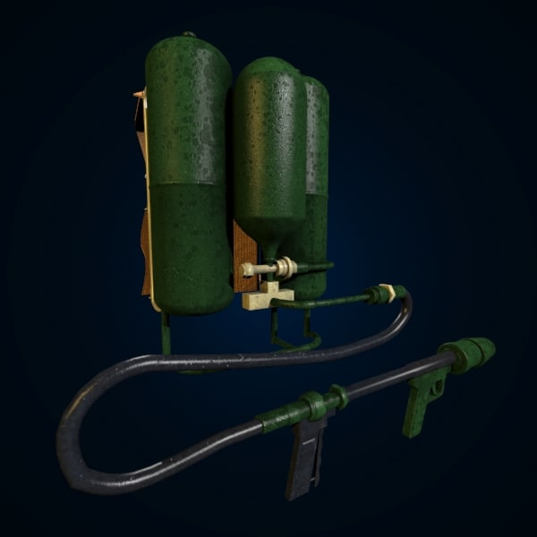 flamethrower flame thrower 3d model