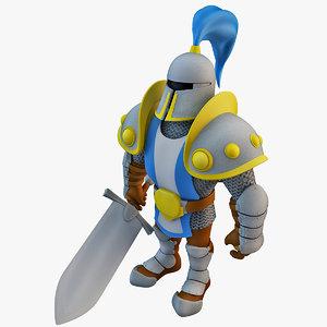 rigged knight 3d max