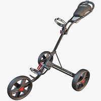 golf trolley cart 3d 3ds