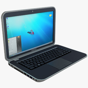 dell inspiron 7520 laptop 3d model