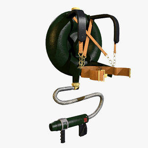 3d model lifebuoy flamethrower