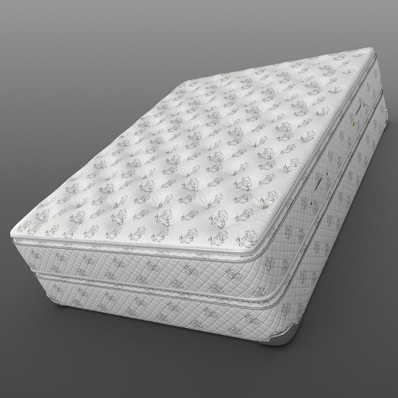 3d mattress bed model