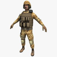 3d sas soldier rigged