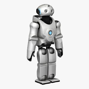 3d sony qrio robot static model