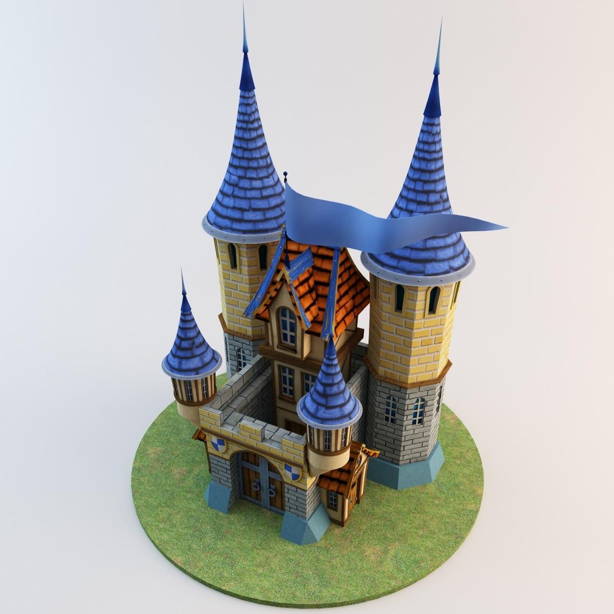 3d toy castle 3