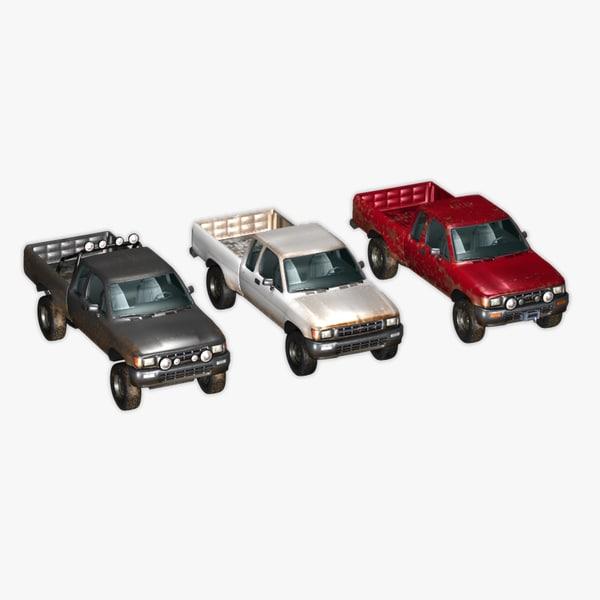 3d pickup truck toyota hilux