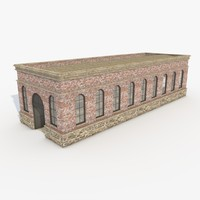 3d industrial building warehouse architecture model