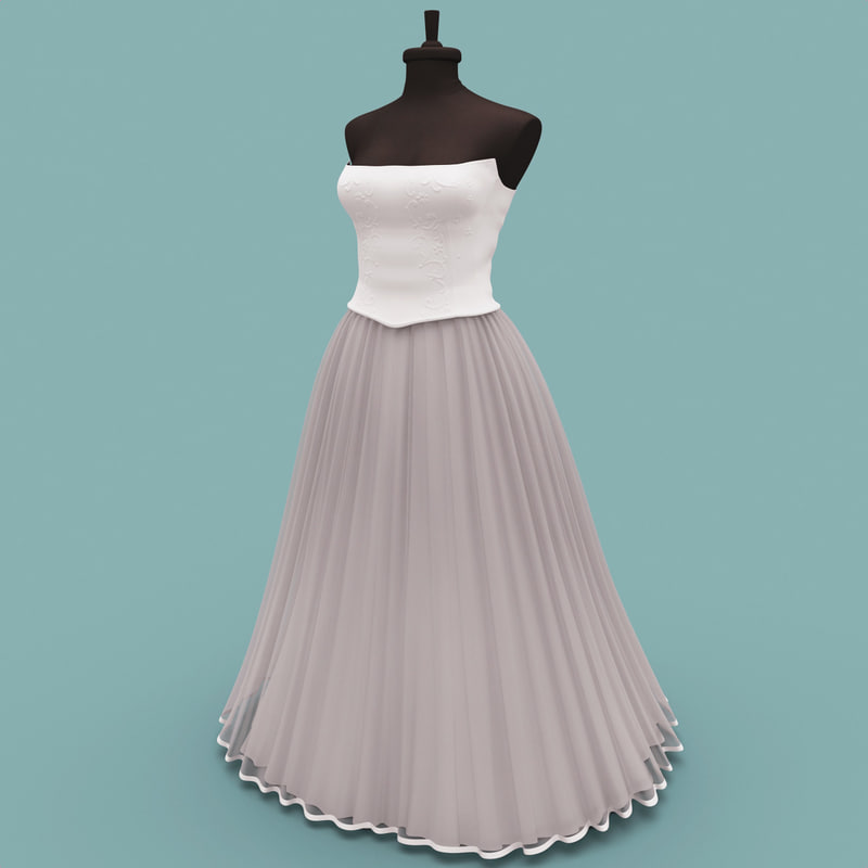 3ds max wedding dress 2