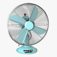 3d photoreal antique electric fan model