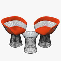 3ds max knoll planter table armchair
