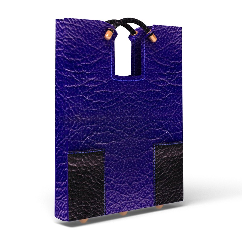 3d model of double handle exposed tote