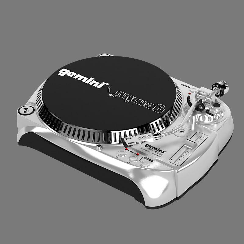 3d model gemini tt1000 belt drive