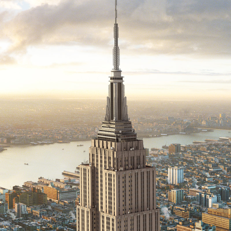 3ds max empire state york for Model house nyc