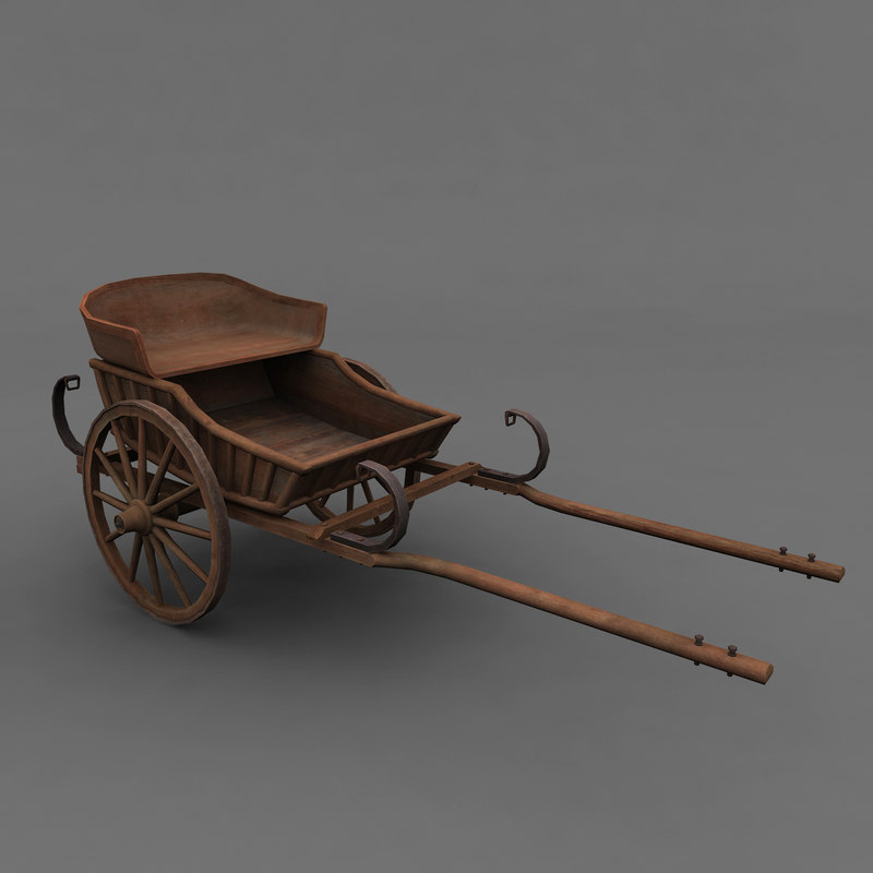 3d model old carriage