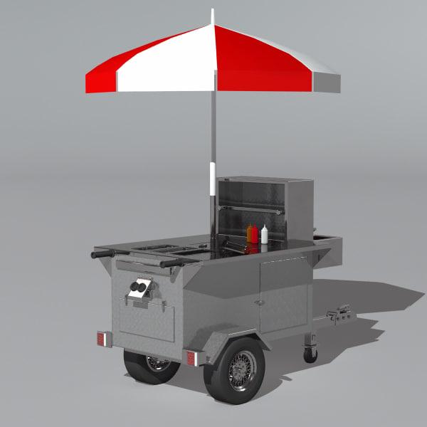 dog cart 3d max