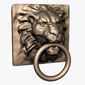 3d lion knocker model