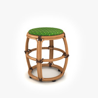 model rattan ottoman