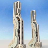 sci fi futuristic building max