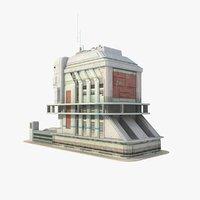 obj sci fi futuristic building