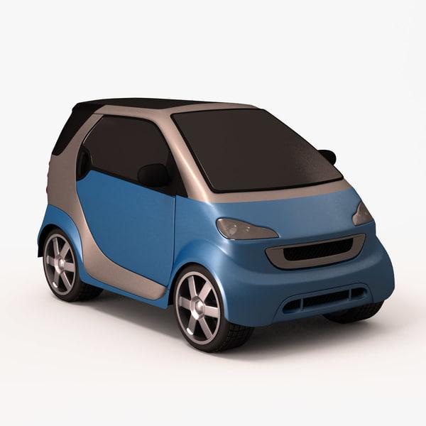 3d model smart car