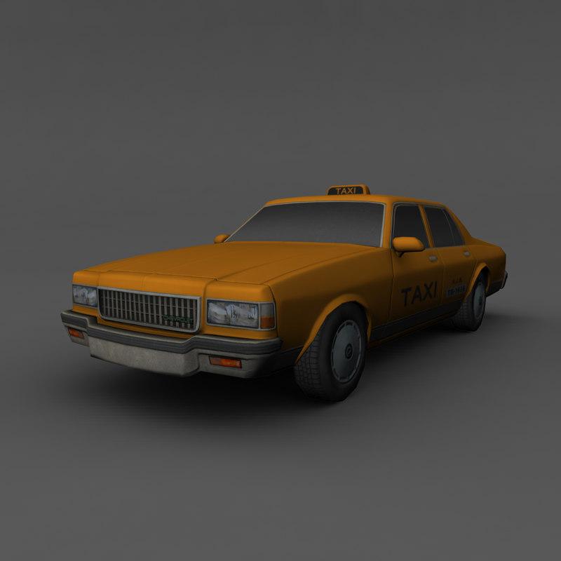 chevrolet caprice taxi 3d model