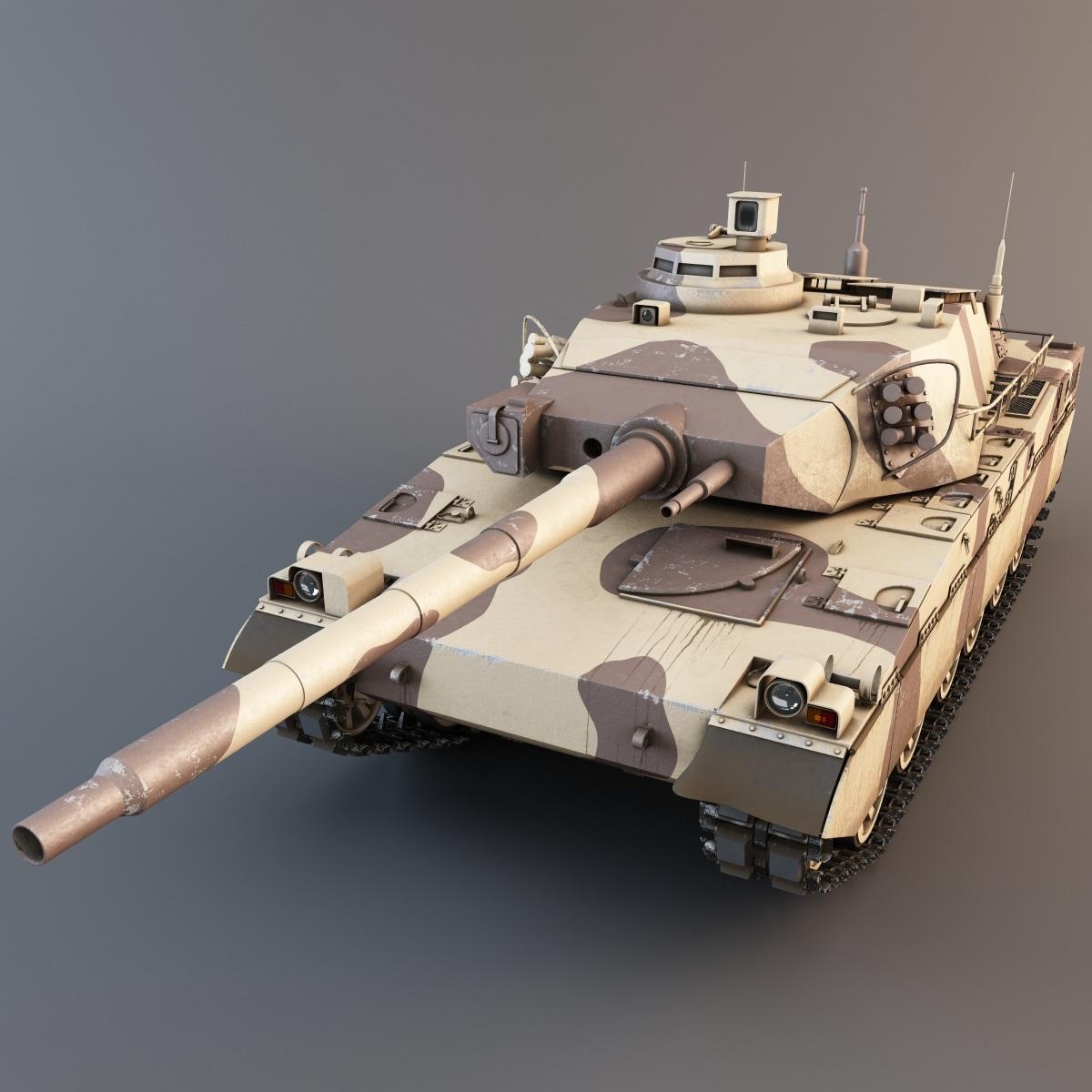 amx-40 french main battle tank 3d 3ds