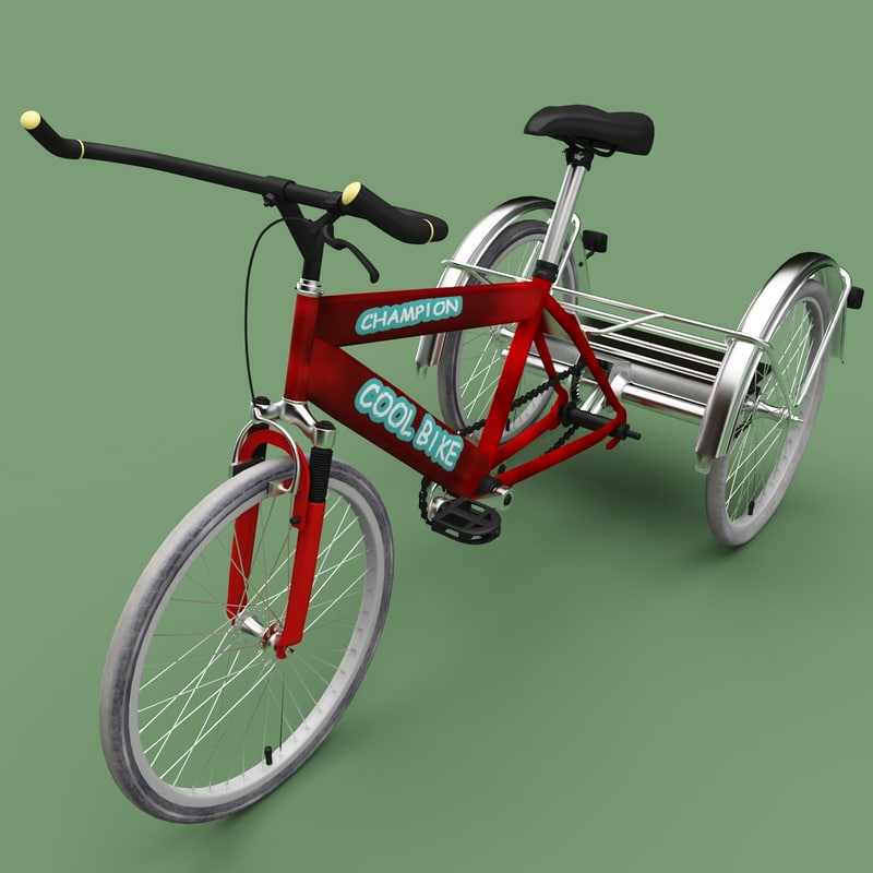 3ds max adult tricycle