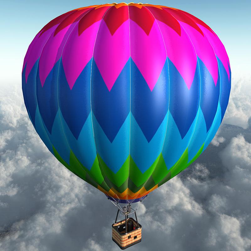 3ds max air balloon
