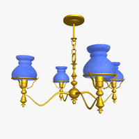3d chandelier light lamp model