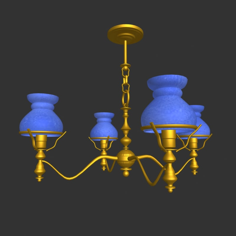3d chandelier light lamp model