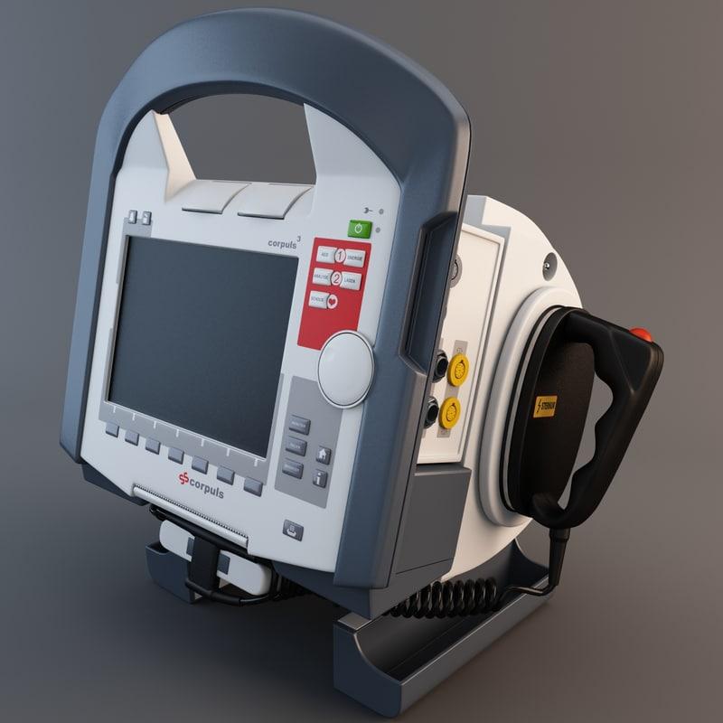 3d model corpuls defibrillator