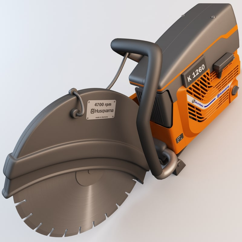 husqvarna k760 disc cutter 3d model