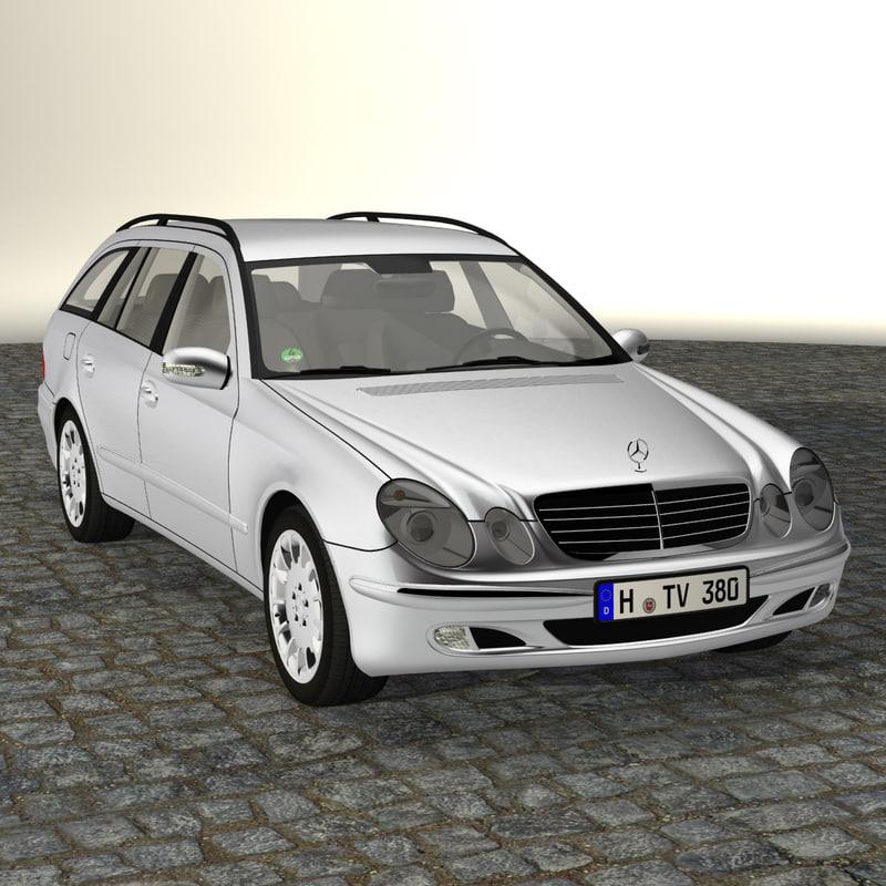 mercedes benz e class 3d model