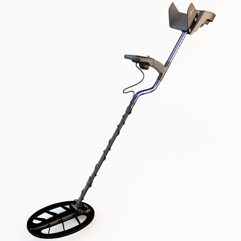 fisher f75 metal detector 3d c4d