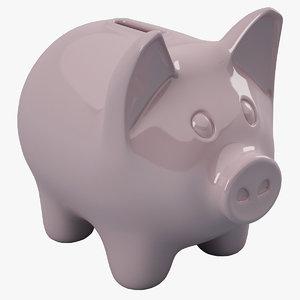 piggy bank pig 3d 3ds