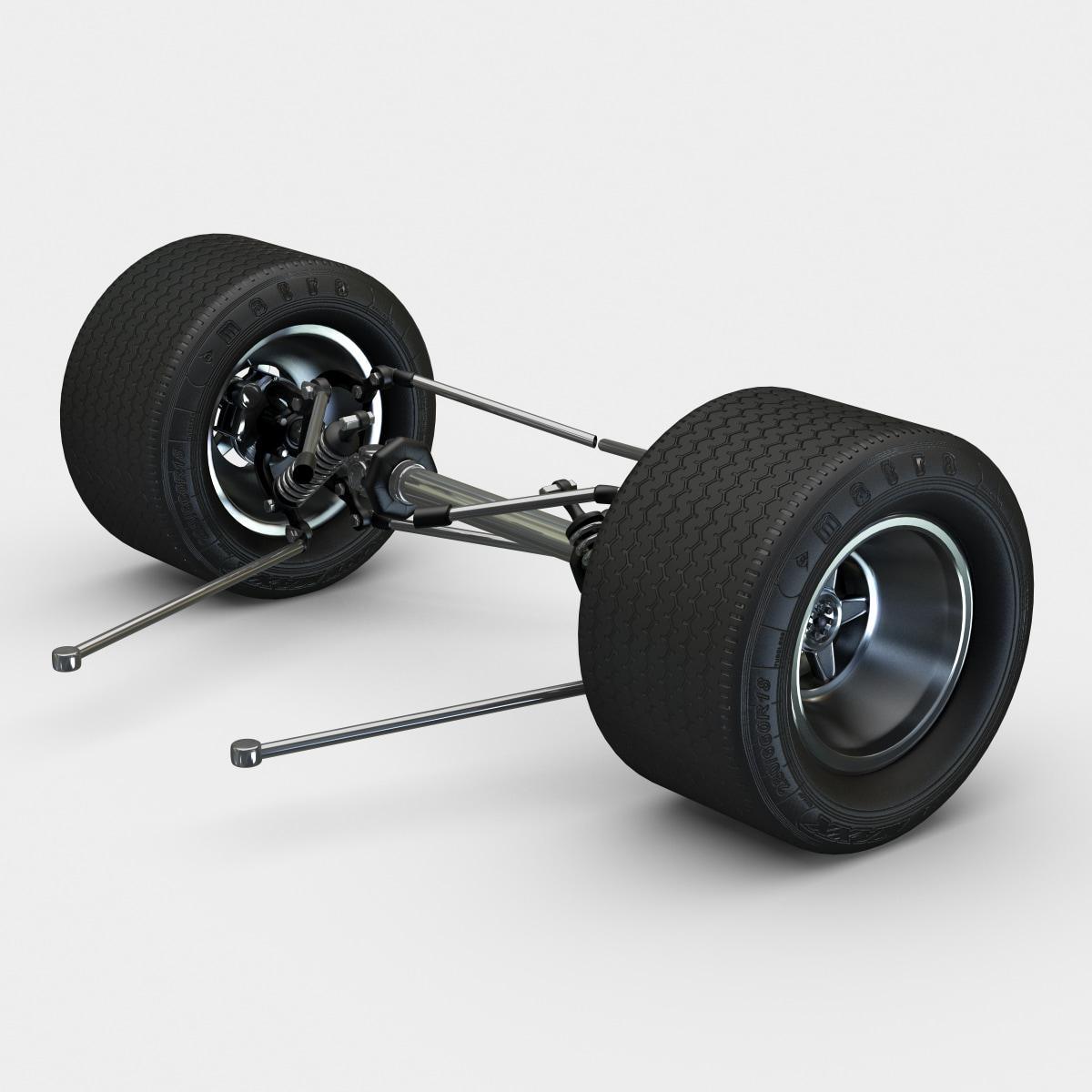 c4d racing car suspension