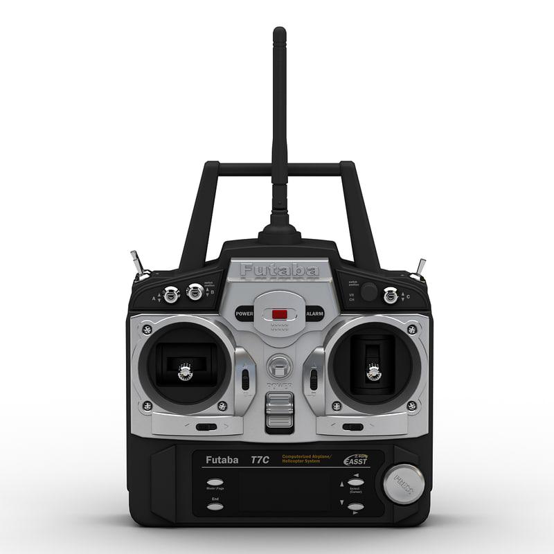 3d model of radio control transmitter futaba