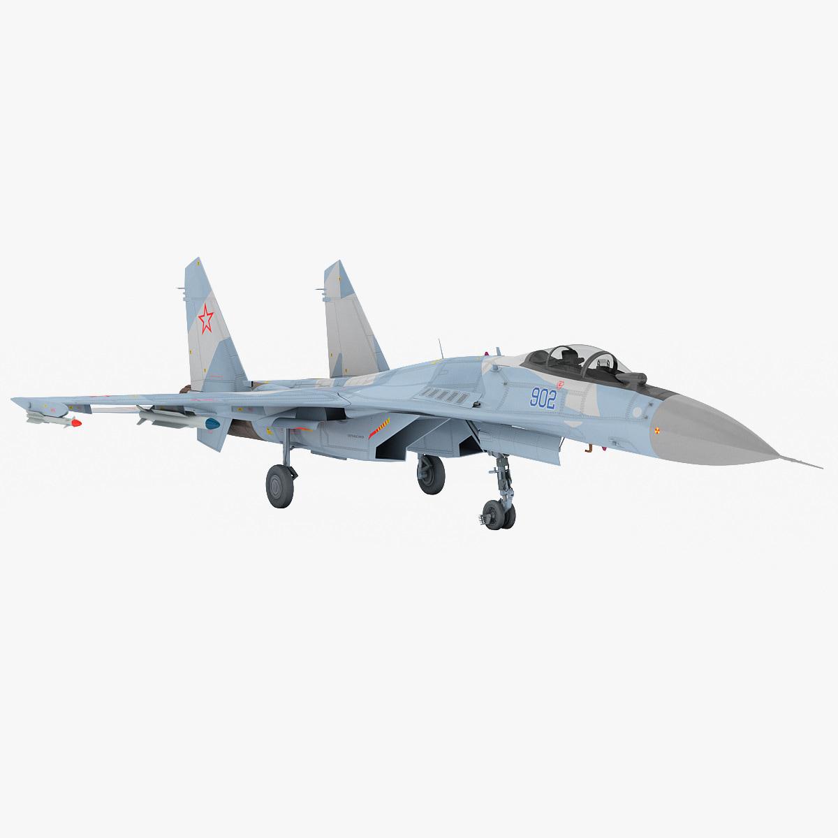 3d model russian sukhoi su-35 fighter