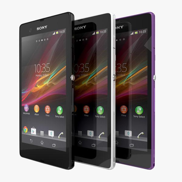 3d max smartphone sony xperia z
