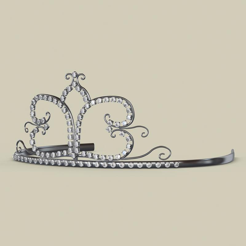 tiara diadem 3d 3ds