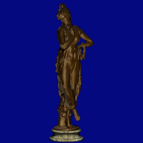 bronze roman 3d max