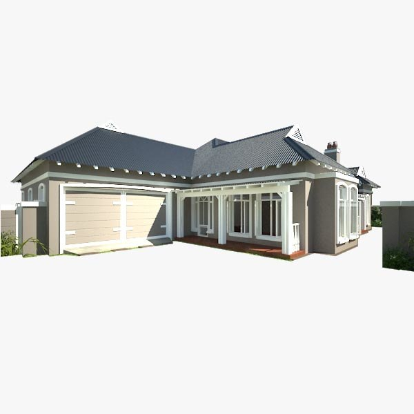 3d model of country farm house