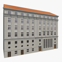 3d european building facades