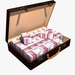 3d suitcase cash