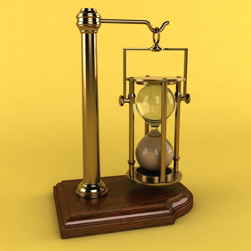 3d hourglass stand glass model