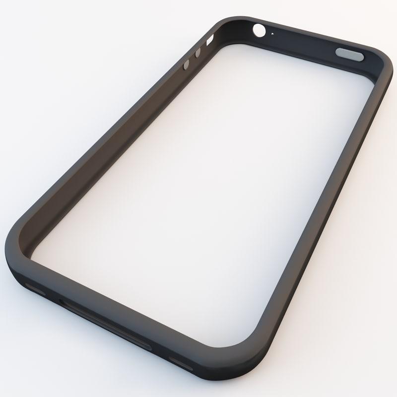 black iphone 4 bumper 3d model