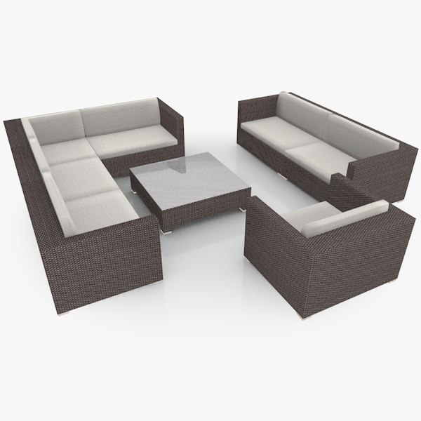 c4d garden lounge furniture set