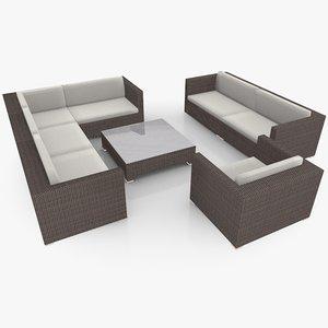 c4d garden lounge furniture set