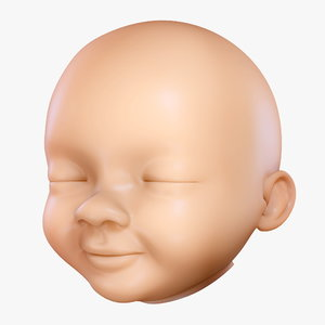 baby head 3d max